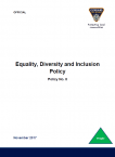 Equality, Diversity and Inclusion Policy