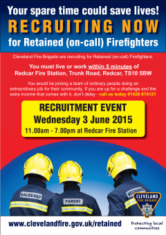 Redcar Retained recriuitment open day poster.indd