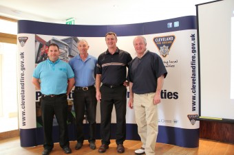 Chief Fire Officer with his Golf team from last year's event  (From left to right: Ian Callaghan, Mark Whelan, Ian Hayton and William Guthrie)