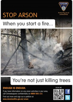 Arson poster killing trees