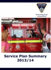 Service Plan Summary 2013-2014