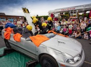 Firefighters demonstrating a road traffic collision rescue at last year's event