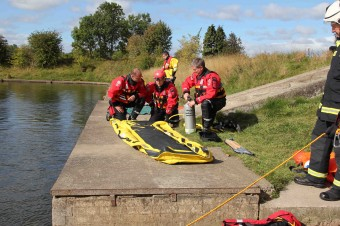 The Swift Water Rescue Team in action previously during an exercise