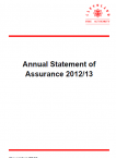 Annual Statement of Assurance 2012/13 (PDF)