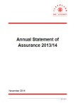 Annual Statement of Assurance 2014/15 (PDF)