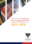 Community Integrated Risk Management Plan 2014-2018 (including full details of Risk Analysis)