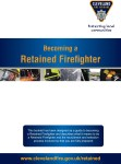 Becoming a Retained Firefighter booklet