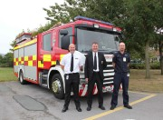 Chief Fire Officer Ian Hayton (centre) pictured with Mike Dayson (left) and Andy Cook (right)