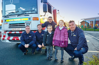 Annabel and her brother Ben pictured with Thornaby White Watch