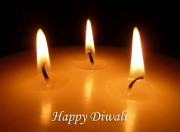 Burning candles forDiwali