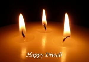 Burning candles forDiwali