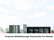 Artists impression of the proposed Middlesbrough Community Fire Station