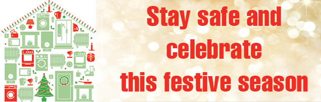 Stay Safe and Celebrate Website header