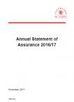 Annual Statement of Assurance 2016-17 (PDF)
