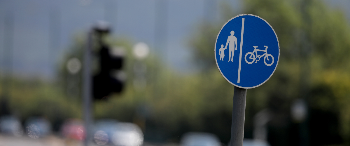 pedestrian and cyclist sign