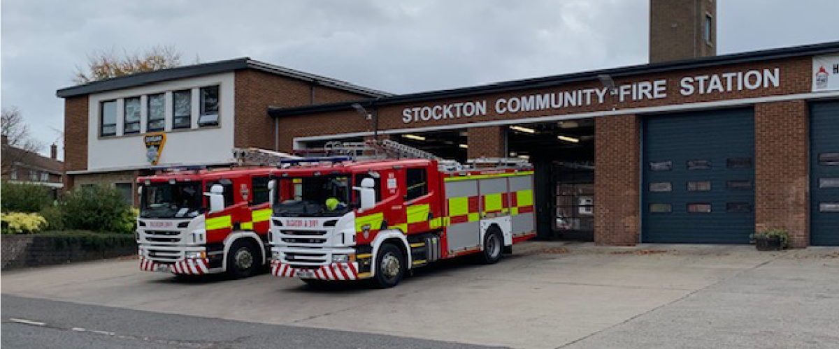 the front of stockton community fire station