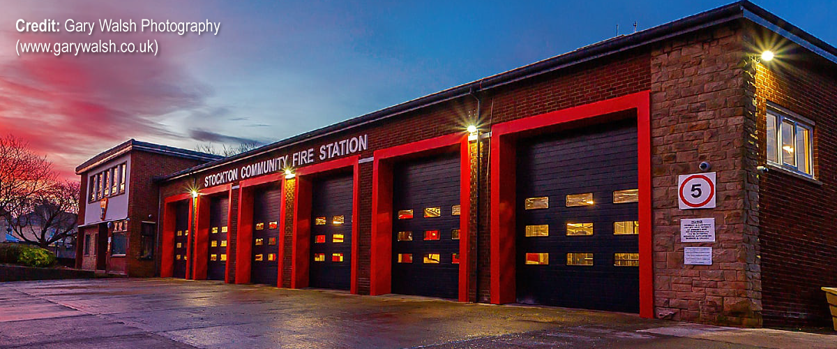 front of stockton community fire station