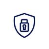 padlock inside badge