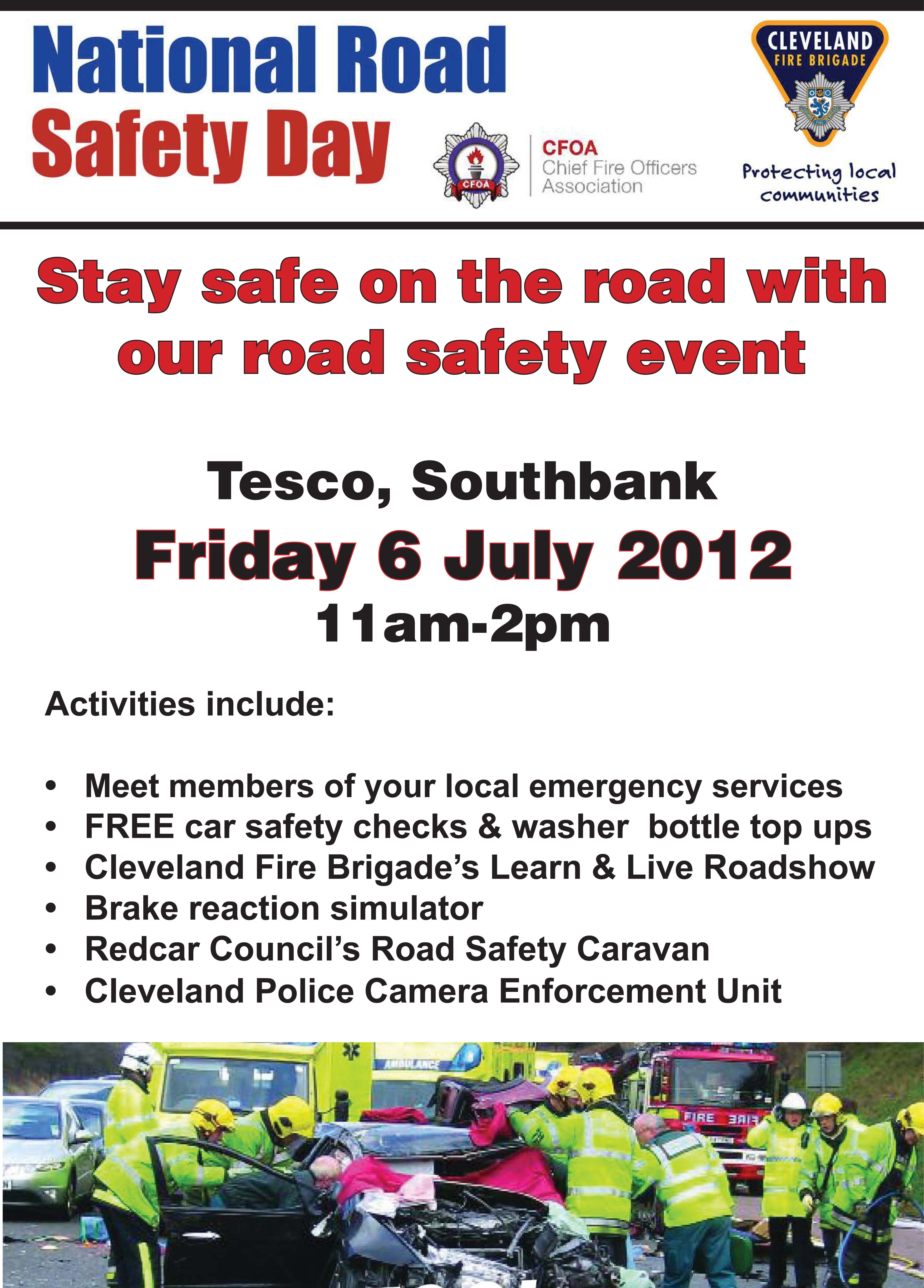 Road Safety Poster Indd Cleveland Fire Brigade